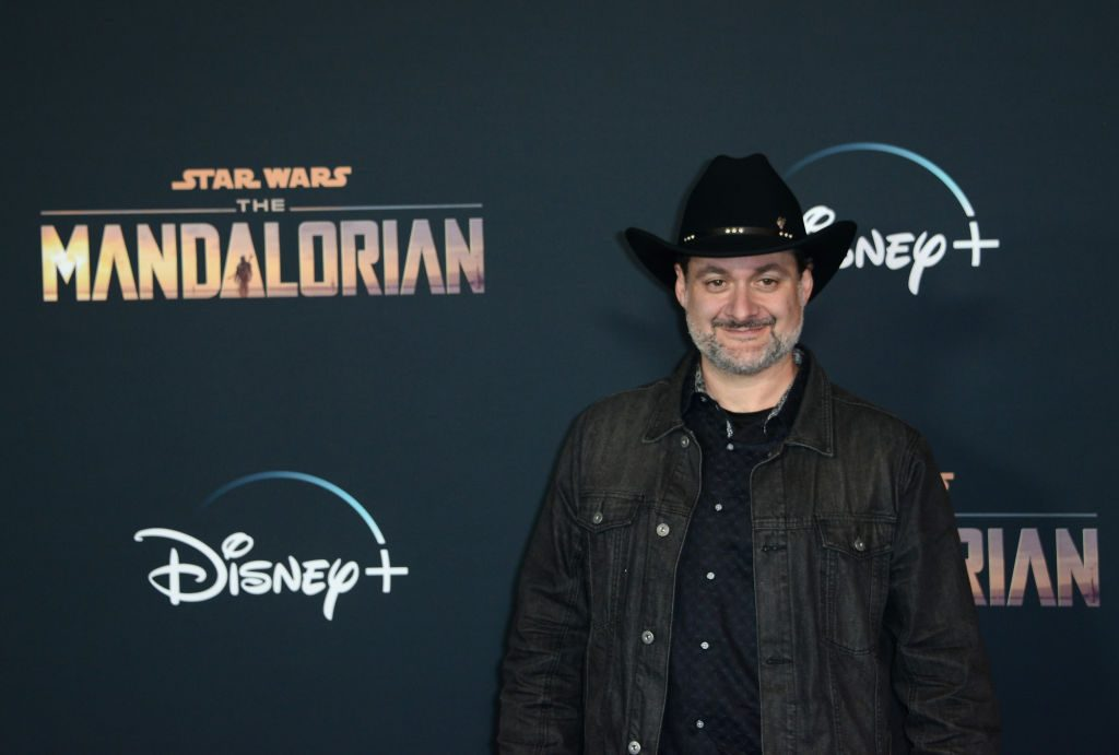 Dave Filoni, a writer for 'The Mandalorian' and one of the minds behind Baby Yoda at the premiere of the show