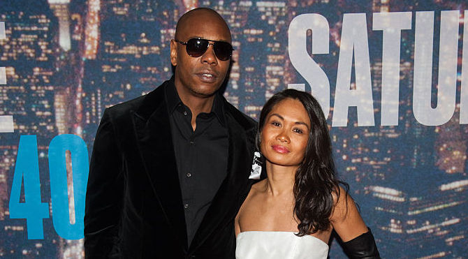 Dave Chappelle and Elaine Chappelle on the red carpet in 2015
