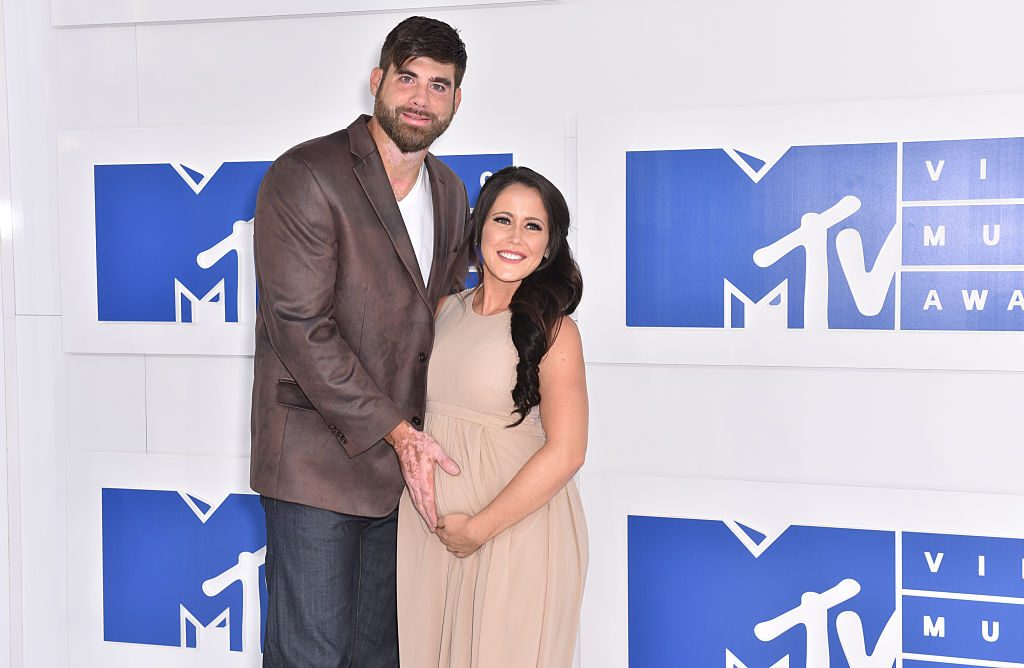 David Eason and Jenelle Evans attend the 2016 MTV Video Music Awards