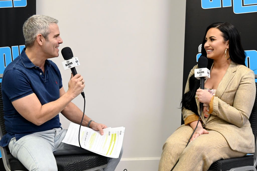 Demi Lovato and Andy Cohen