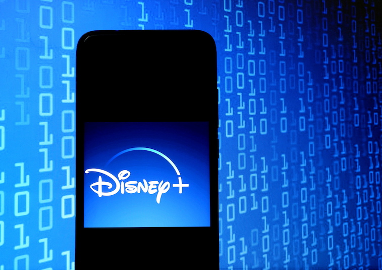 Disney+ logo on a phone screen