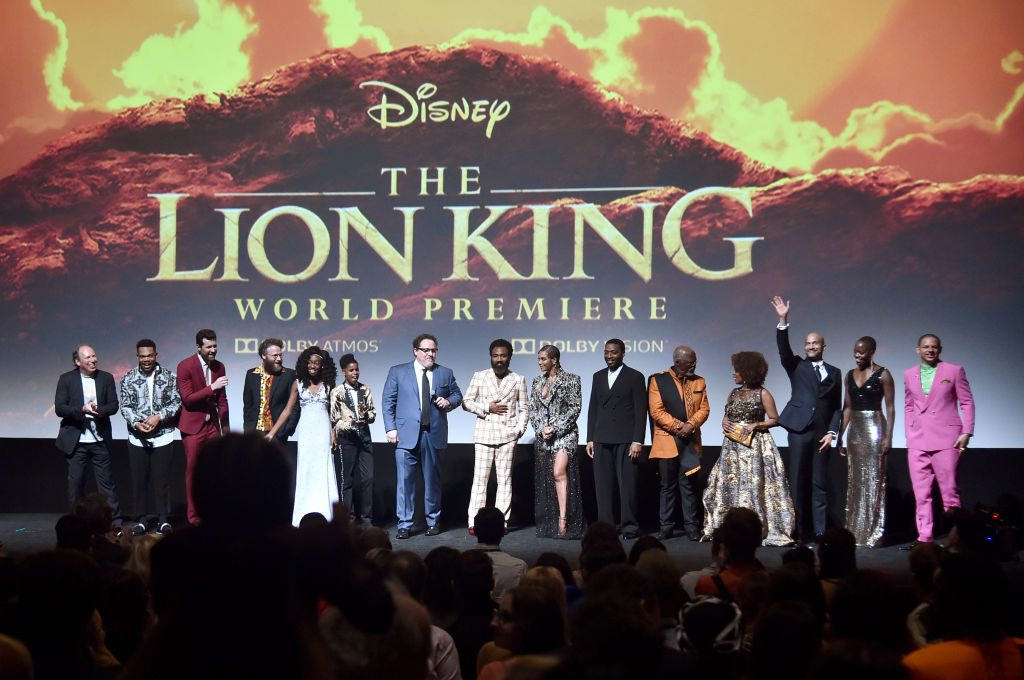 Hans Zimmer and the cast of Disney's photo-real adaptation of 'The Lion King'