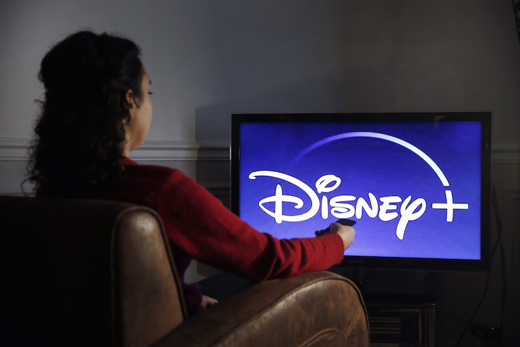 Disney+ logo shown on a television screen
