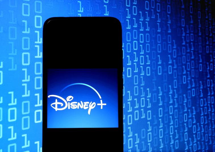 Disney+ logo on a phone screen
