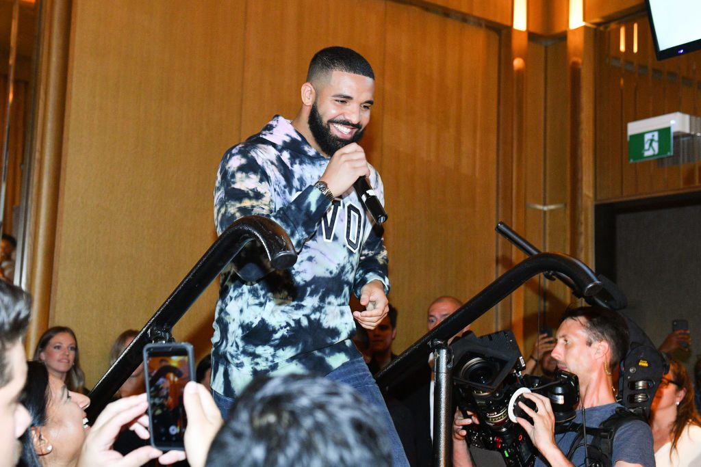 Drake speaking at the Uninterrupted Canada Launch