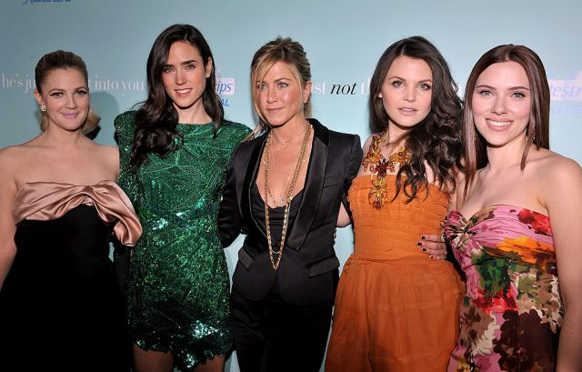 Drew Barrymore, Jennifer Connelly, Jennifer Aniston, Ginnifer Goodwin and Scarlett Johansson at the premiere of 'He's Just Not That Into You' on Feb. 2, 2009