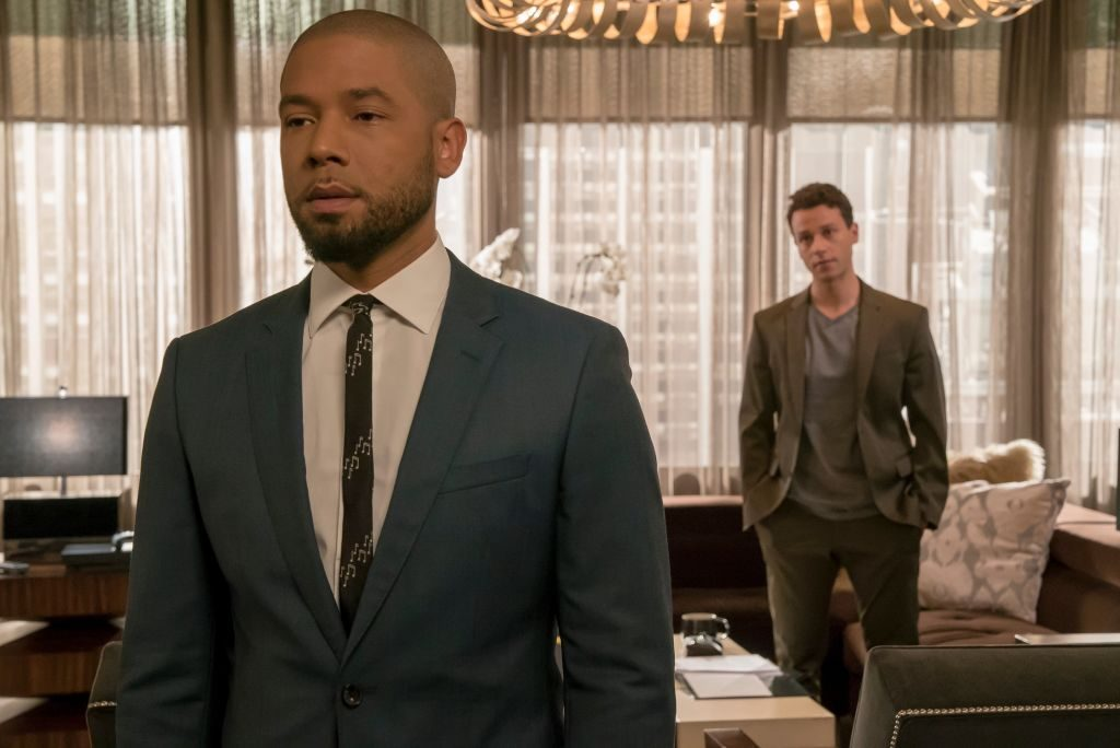 Jussie Smollett and A.Z. Kelsey in 'Empire'