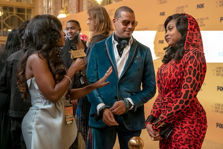"Terrence Howard, Kendra G and Taraji P. Henson  in Fox's ""Empire"""