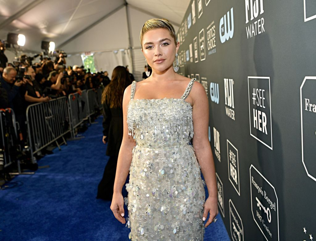 Florence Pugh attends the 25th Annual Critics' Choice Awards on Jan. 12, 2020