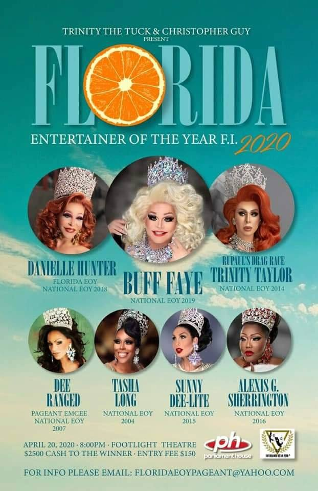 Florida Entertainer of the Year poster