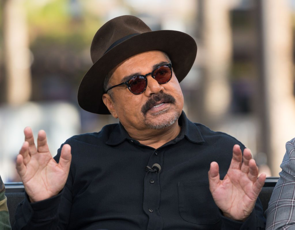 """George Lopez on the set of """"Extra."""" 