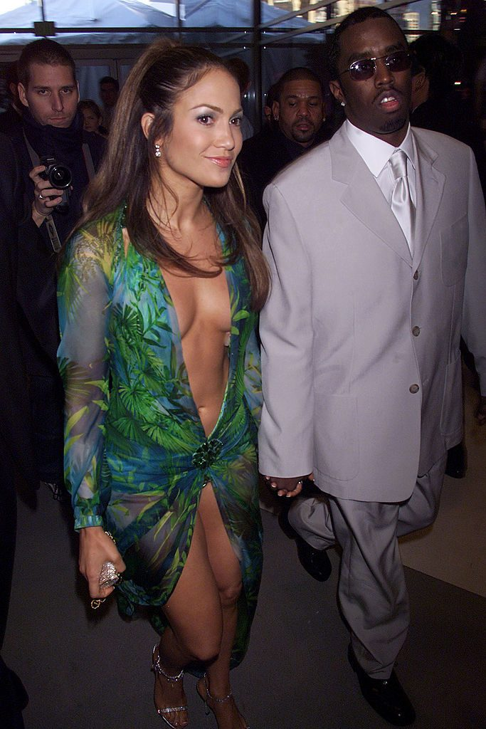 """Jennifer Lopez and Sean """"Diddy"""" Combs at 2000 Grammy Awards"""