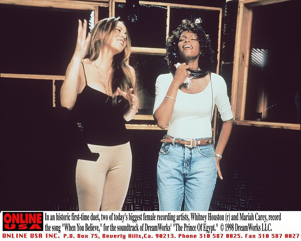 Mariah Carey and Whitney Houston