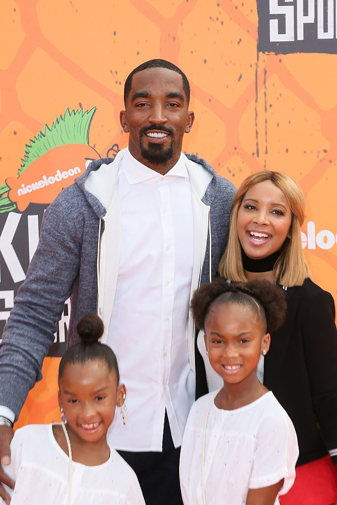 J.R. Smith and Jewel Smith with their children