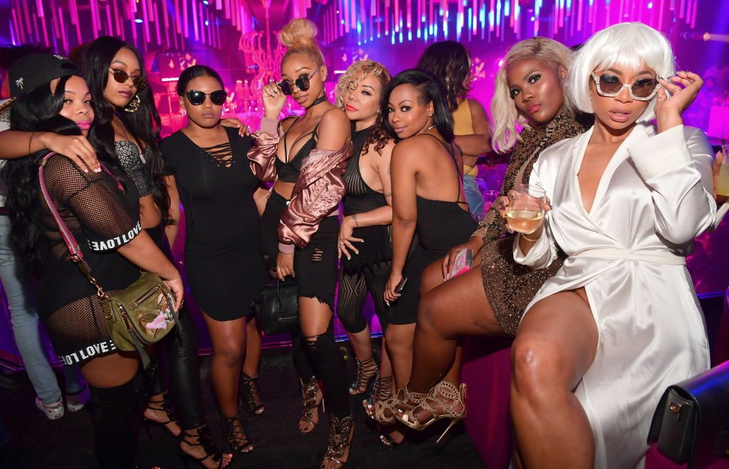 Television personalities Zonnique Pullins, Tameka 'Tiny' Harris, Premadonna and Tommie Lee