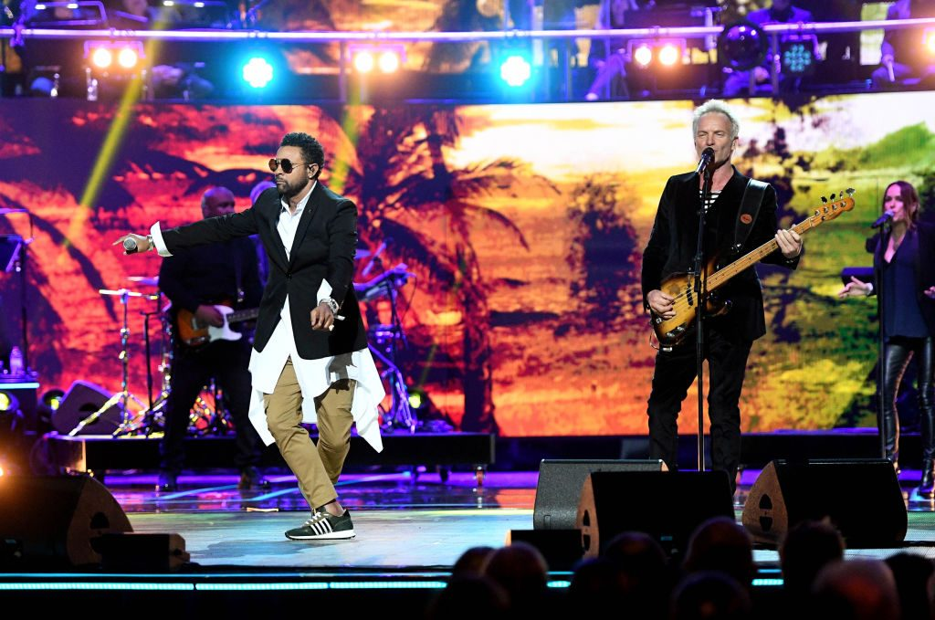 Sting and Shaggy performing at Queen Elizabeth's birthday party at Royal Albert Hall in 2018