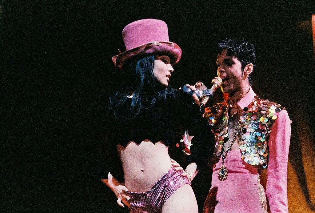Prince and first wife, Mayte Garcia, in concert