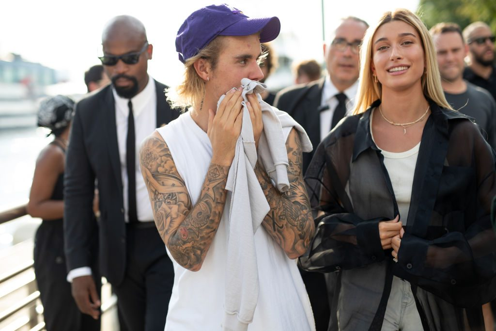 Justin Bieber and Hailey Baldwin attend New York Fashion Week SS19