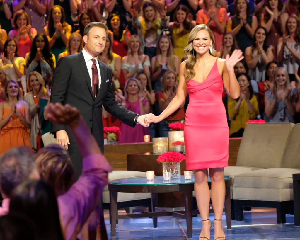 Chris Harrison and Hannah Brown on 'The Bachelorette'