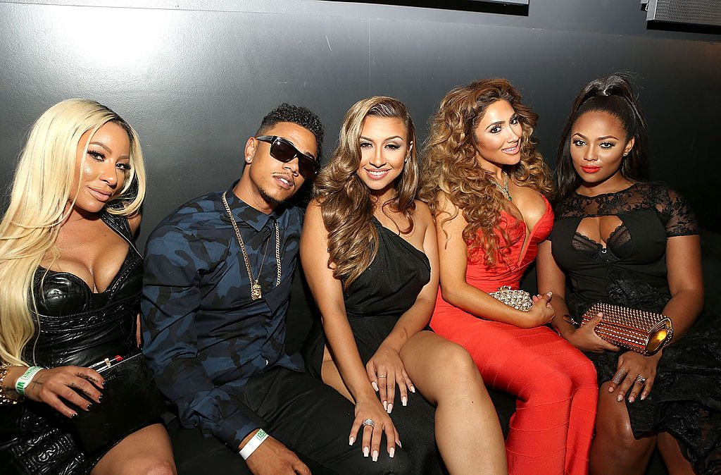 TV personalities Hazel-E, Lil Fizz, Amanda Secor, Nikki Mudarris and Teairra Mari attend the Love & Hip Hop: Hollywood Premiere Event on September 9, 2014 in Hollywood, California | Jesse Grant/Get