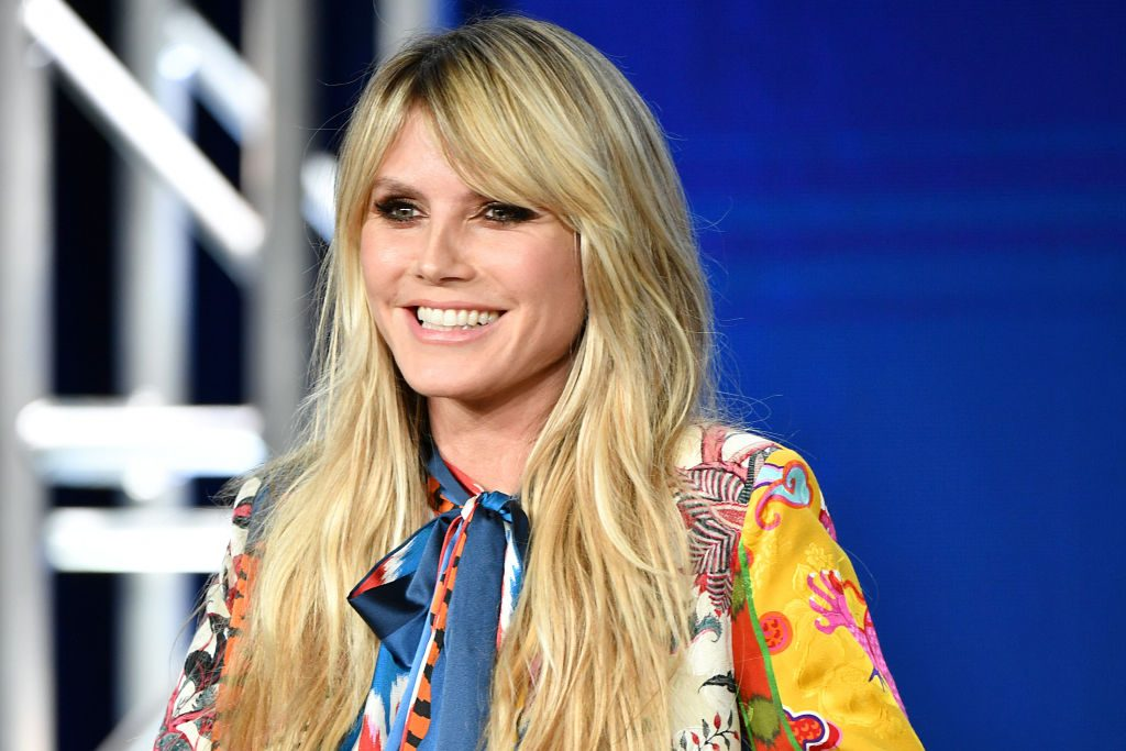 Heidi Klum of Amazon Prime's 'Making the Cut' speaks onstage during the 2020 Winter TCA Tour Day 8