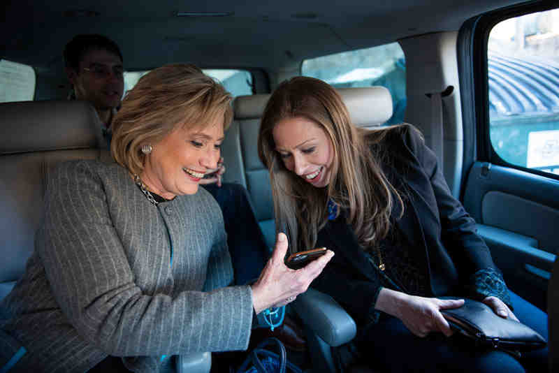 Hillary and Chelsea Clinton