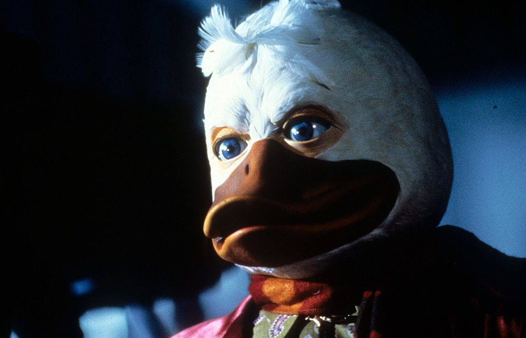 Howard in a scene from the film 'Howard The Duck', 1986.