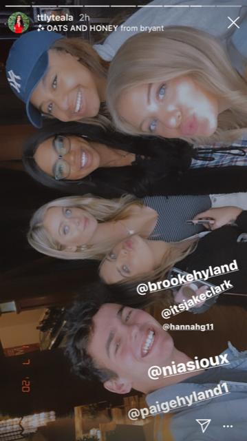 Jake Clark, Brooke Hyland, Hannah Godwin (Bachelor Star), Teala Dunn, Nia Sioux, and Paige Hyland