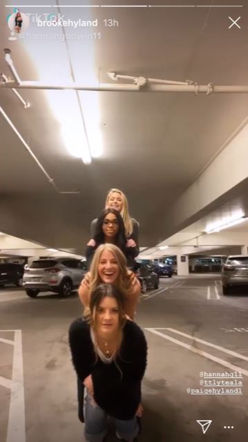 Hannah Godwin (Bachelor Star), Taela Dunn, Paige Hyland, and Brooke Hyland