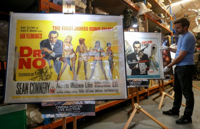 Posters for the James Bond films 'From Russia with Love' and 'Dr. No'