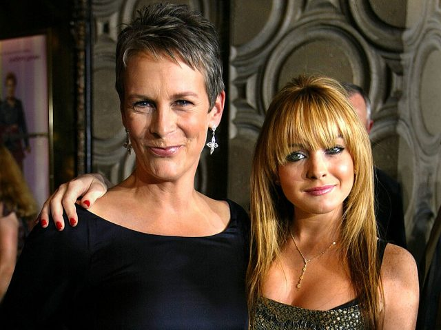 Jamie Lee Curtis and Lindsay Lohan at the premiere of 'Freaky Friday' on Aug. 4, 2003
