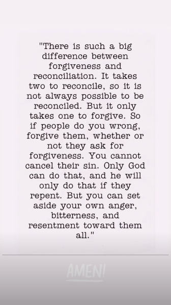 Jana Duggar's Instagram Story of a religious quote