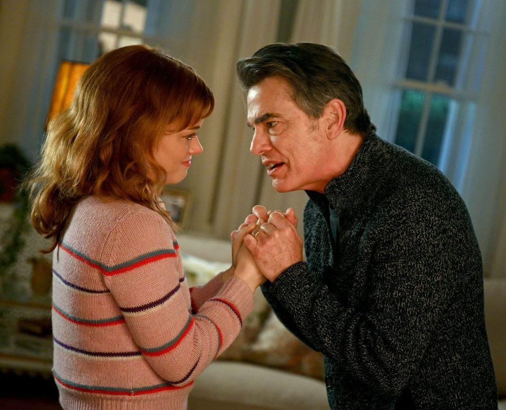 Jane Levy and Peter Gallagher in Zoey's Extraordinary Playlist. |  Sergei Bachlakov/NBC/NBCU Photo Bank via Getty Images