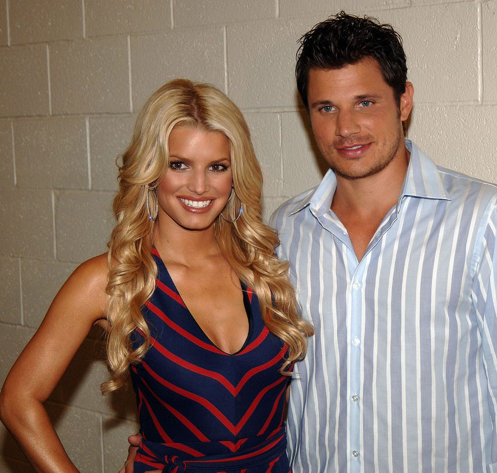 Jessica Simpson and Nick Lachey at an event