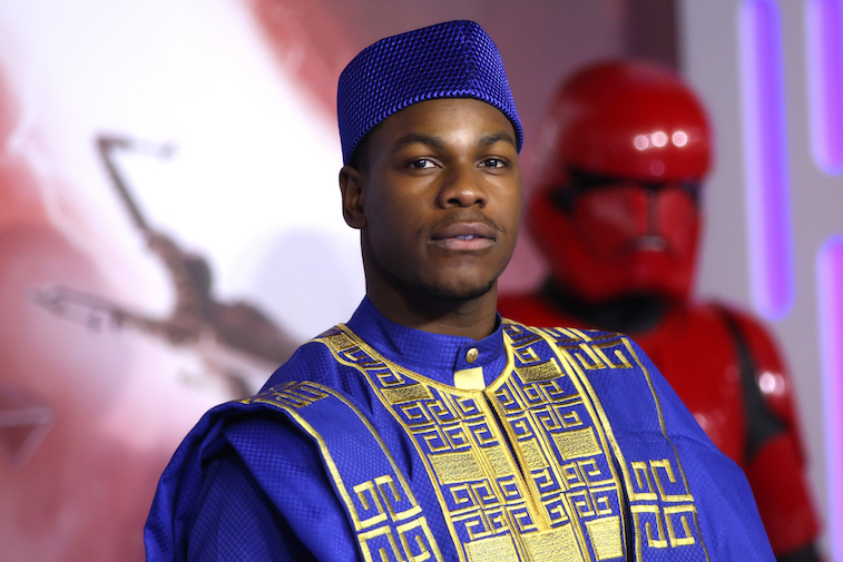 John Boyega on the red carpet