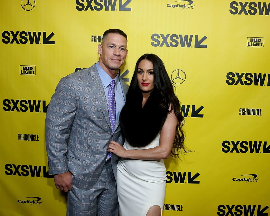 John Cena and Nikki Bella on the red carpet in March 2018