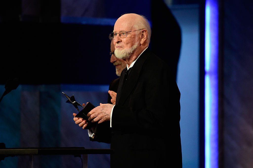 John Williams, the composer for the 'Star Wars' franchise, accepting a Life Achievement award
