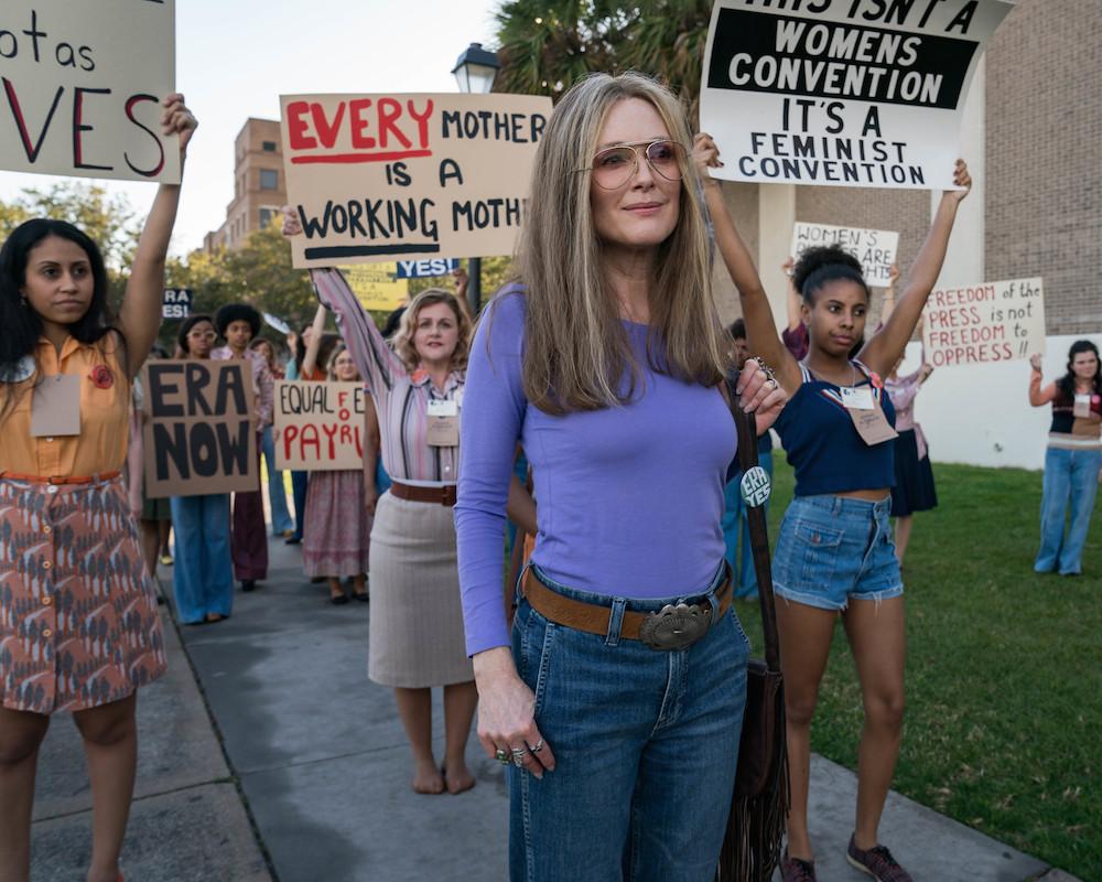Julianne Moore as Gloria Steinem