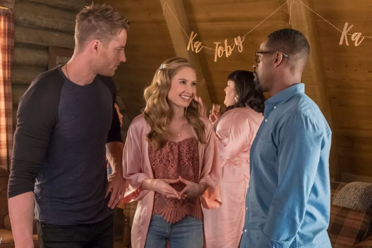 Justin Hartley, Caitlin Thompson and Sterling K. Brown