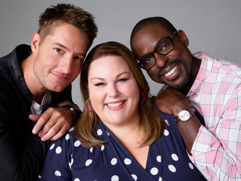 Justin Hartley as Kevin Pearson, Chrissy Metz as Kate Pearson, Sterling K. Brown as Randall Pearson in This is Us - Season 4