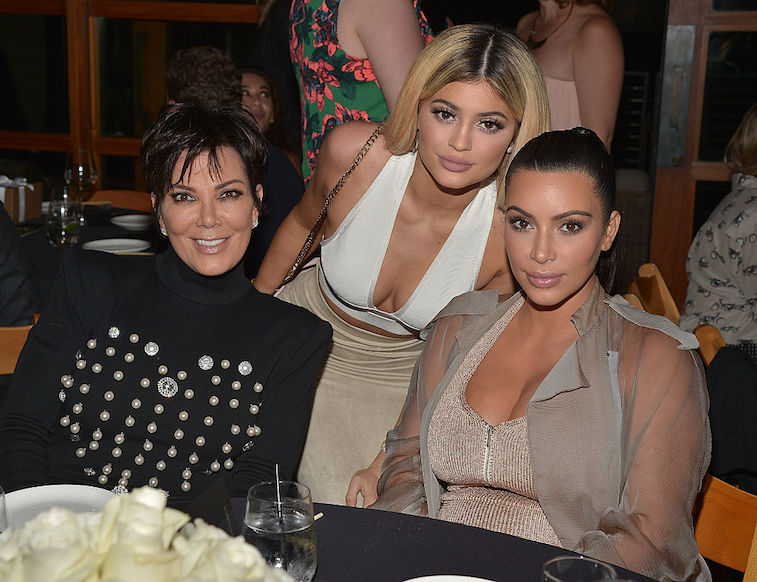 Kim Kardashian West with Kris Jenner and Kylie Jenner