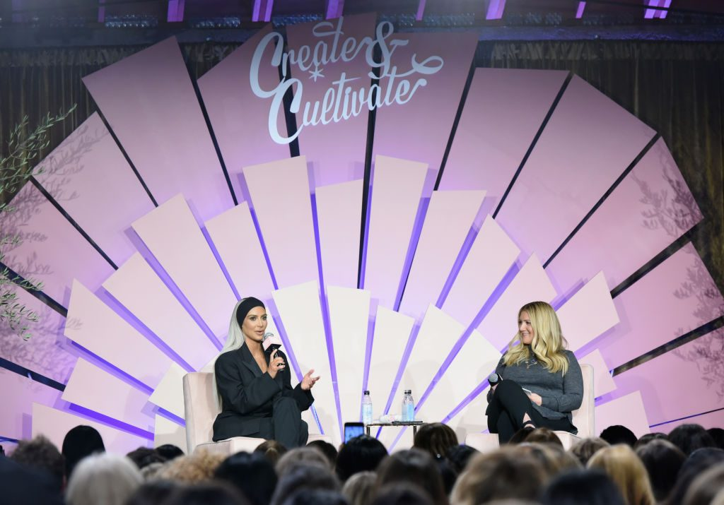 Kim Kardashian and Allison Statter at the Create & Cultivate Los Angeles conference