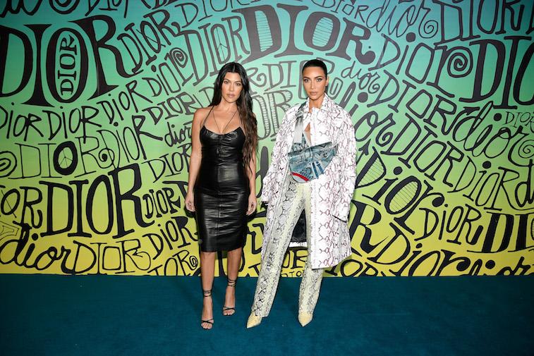 Kim and Kourtney Kardashian on the red carpet