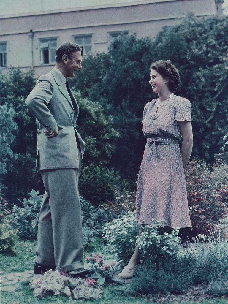 King George and Princess Elizabeth