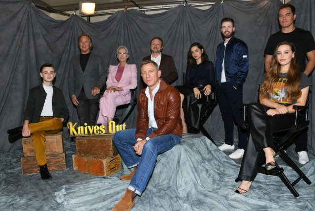 Rian Johnson and the cast of 'Knives Out'