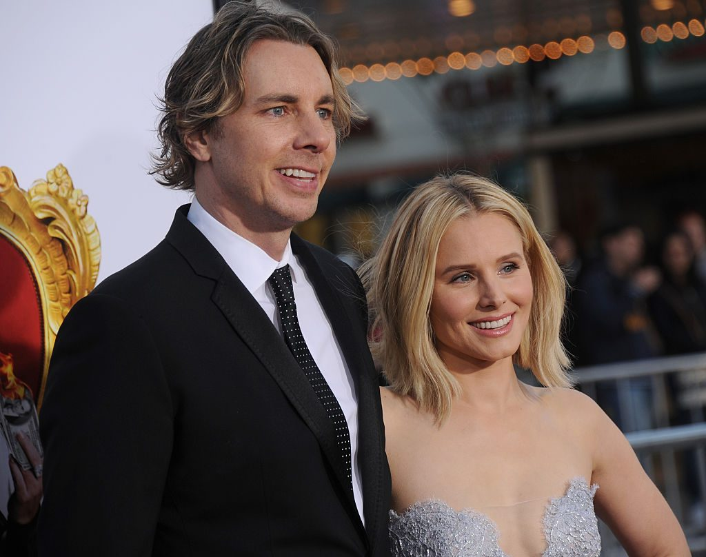Kristen Bell and Dax Shepard smiling