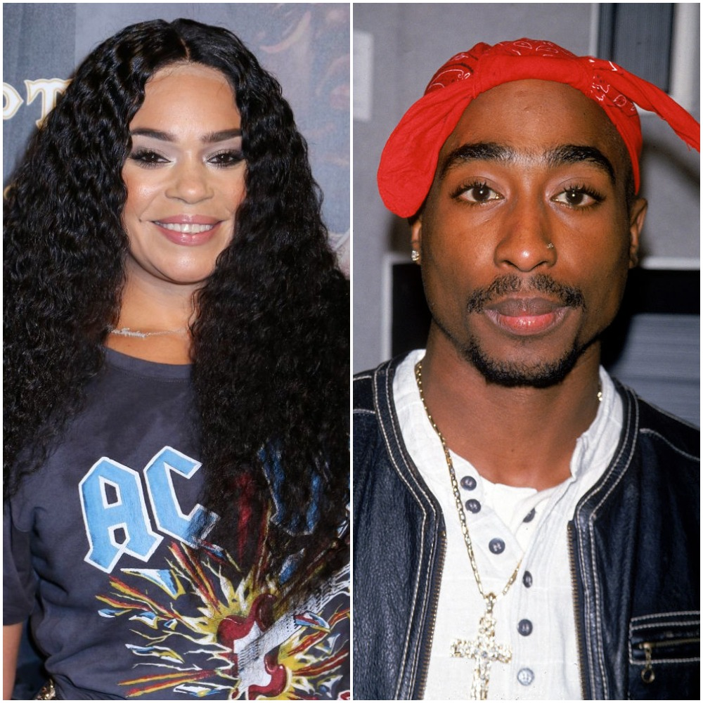 (L) Faith Evans,  (R) Tupac Shakur