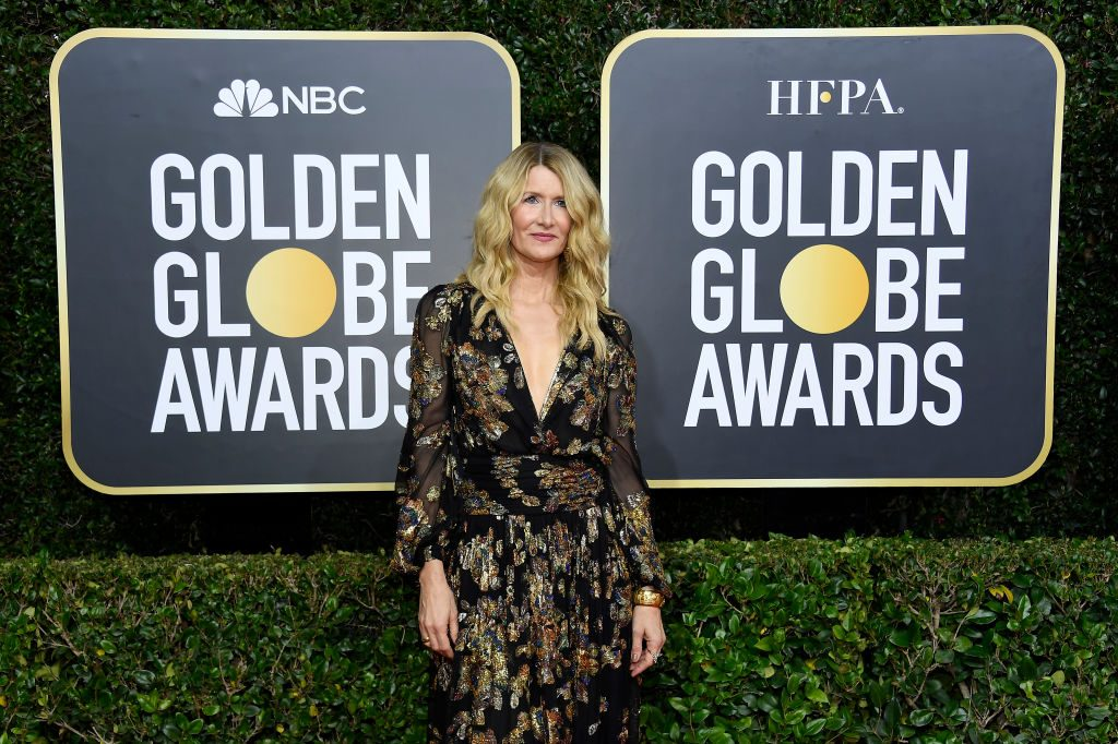 Laura Dern arrives to the 77th Annual Golden Globe Awards