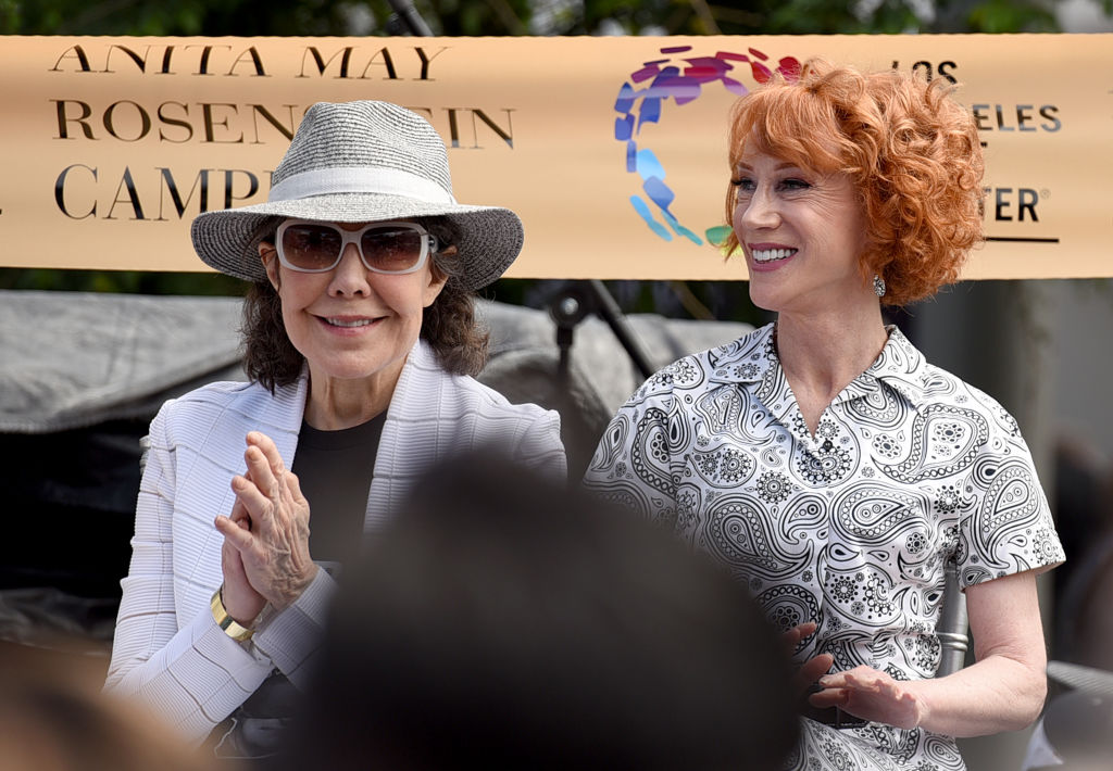 Lily Tomlin and Kathy Griffin attend the grand opening of the Los Angeles LGBT Center's Anita May Rosenstein Campus
