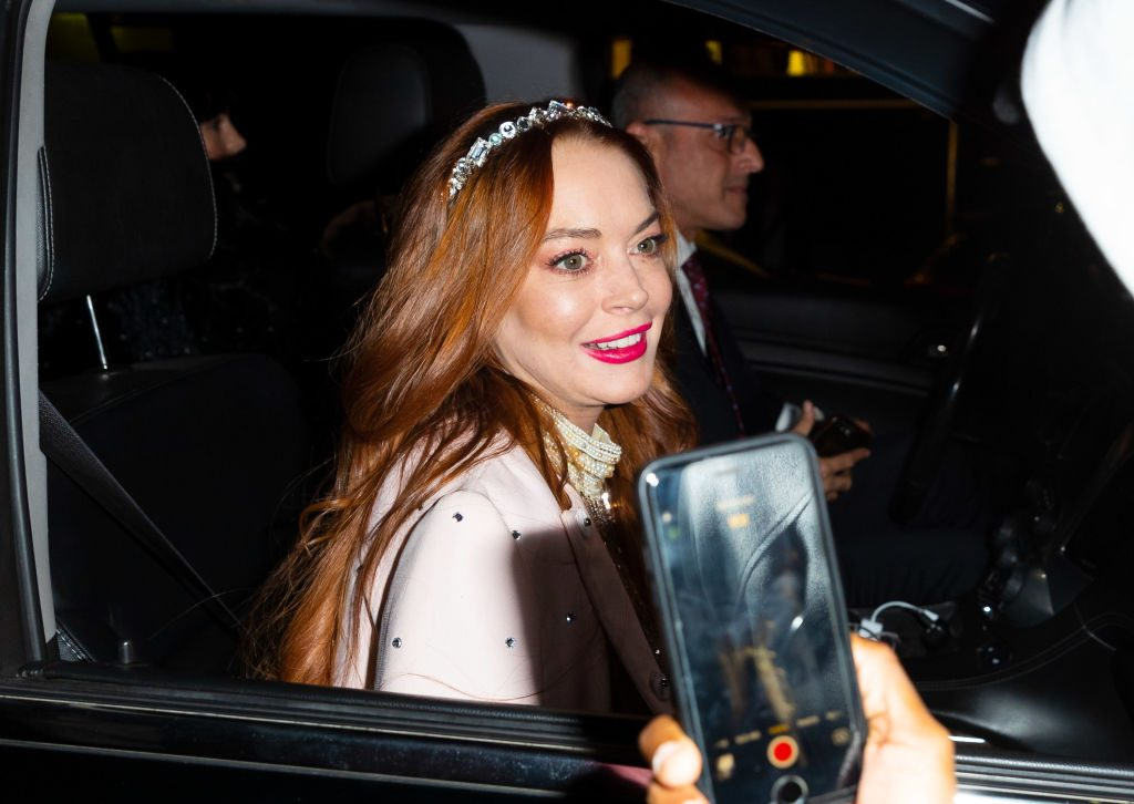 Lindsay Lohan out and about on Oct. 25, 2019 in New York City